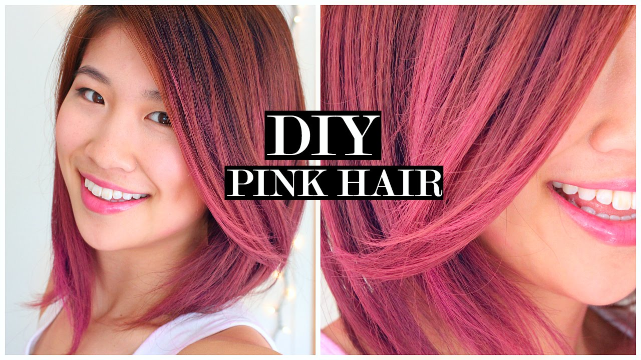 How To Pink Ombre Hair Fake Short Hair Tutorial Youtube