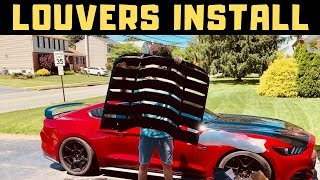 I Installed Louvers on my Mustang GT!