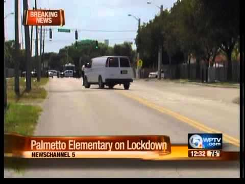 Palmetto Elementary School on lockdown