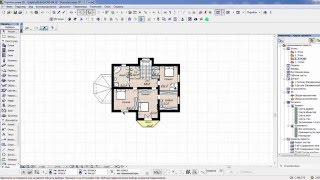 Как построить коробку дома в archicad
