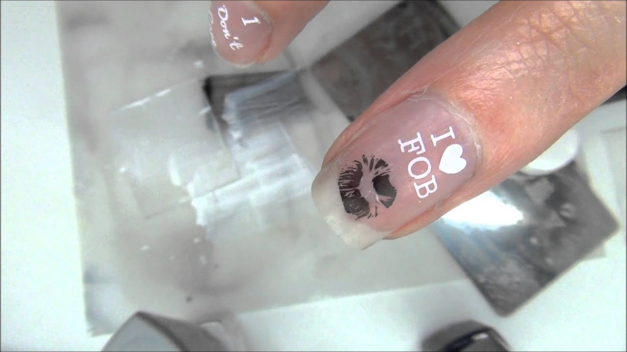 FALL OUT BOY special stamping nail art image plate - YouTube