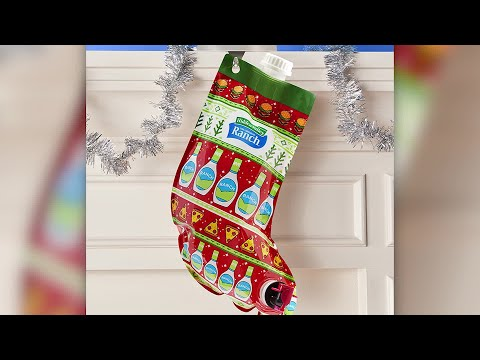 Lisa St. Regis - Ranch Dressing Lovers Holiday Stocking Filled With Hidden Valley Ranch