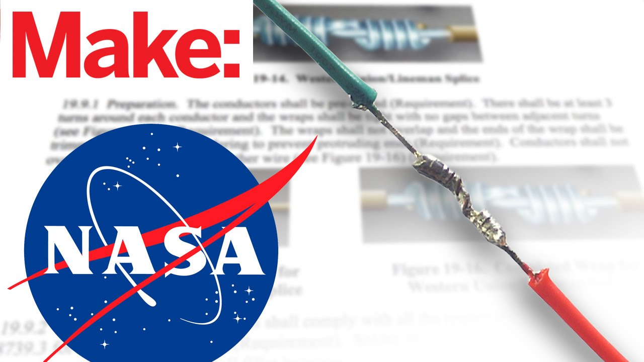 hight resolution of how to splice wires to nasa standards