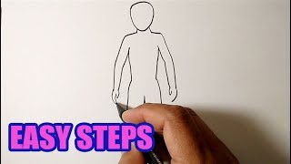Easy How To Draw A Person Step By Step