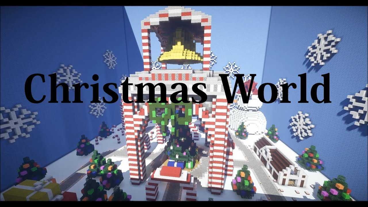 Christmas Minecraft World.Minecraft Christmas World