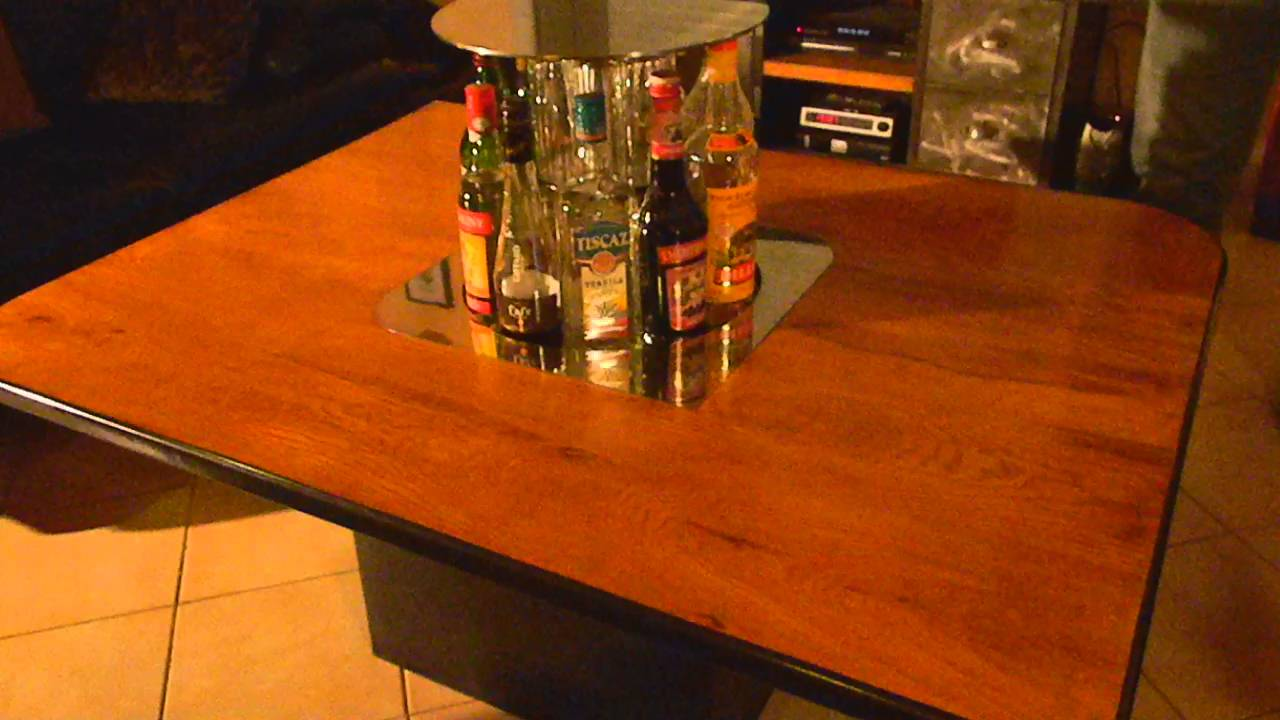 table basse avec bar escamotable youtube. Black Bedroom Furniture Sets. Home Design Ideas