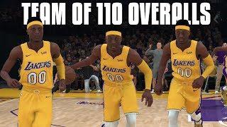 Team Of 110 Overalls In NBA 2K18! NBA 2K18 Challenge!