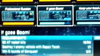 Gunslinger Trophy BF3  B2K gliched & Fixed 10 kills with each of the ten B2K weapons