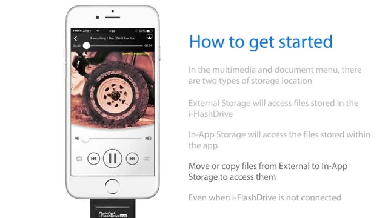 How to use a flash drive 64