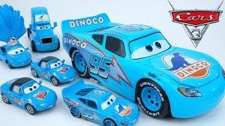 Скачать DISNEY CARS DINOCO LIGHTNING MCQUEEN THE KING PISTON CUP RACE HAULER HUGE DIECAST CAR TOY COLLECTION