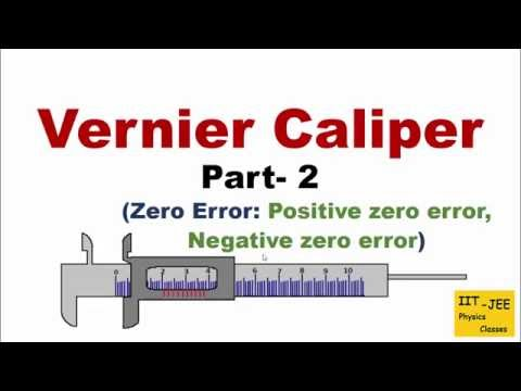 Vernier Caliper (Part-2): Zero Error through Animation, IIT-JEE physics classes