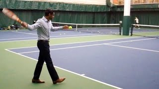 DePaul University Club Tennis - Practice at Lakeshore: King of the Court