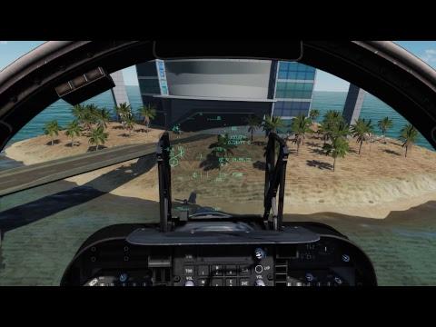 Harrier test ride in Persian Gulf map