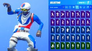 ALPINE ACE KOR SKIN SHOWCASE WITH ALL FORTNITE DANCES & EMOTES