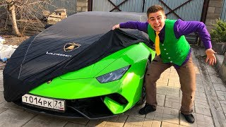 Mr. Joe on Lamborghini Huracan found Car Case & Hid Car Lamborghini w/ Funny Race for Kids