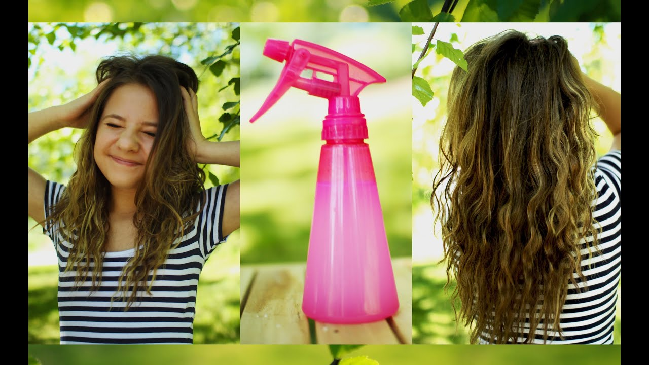 sea salt spray hair styles heatless beachy waves diy sea salt hair spray 1470 | maxresdefault