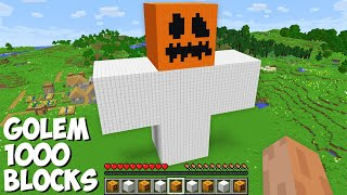 What if you SPĄWN A GOLEM OF 1000 BLOCKS in Minecraft ? INCREDIBLY HUGE IRON GOLEM !
