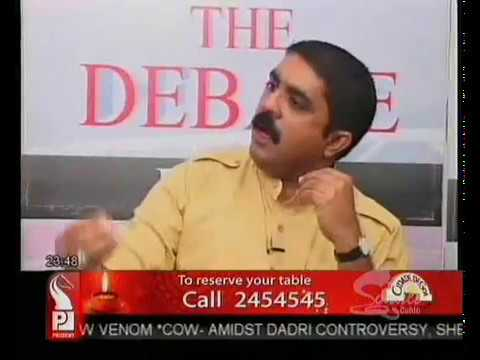 Michael Lobo debates with Vijai Sardesai (Goa Forward) and Yatish Naik (Goa Congress)