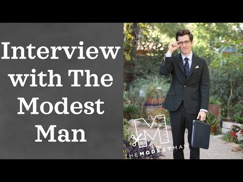 The Modest Man Interview -Dressing as a Short Man, Promoted Products on YouTube, and More