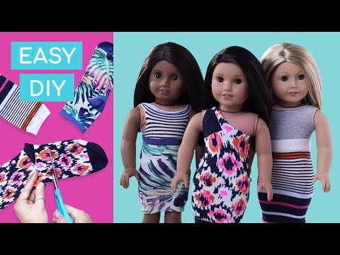 How To Make A Cute Dress For Your Doll | Doll DIY | American Girl