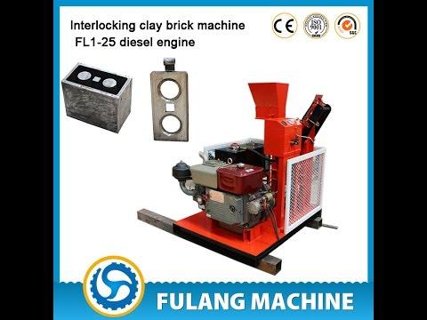 FL1-25 diesel engine interlocking brick making machine