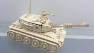 Wood Craft Construction Kit, How to make a wooden Tank Toy Let follow the instruction how to assembly the tank with this video, ...