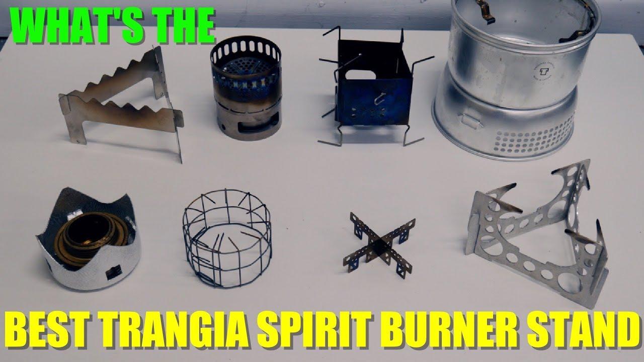 Titanium alcohol stove stand for Trangia size stove