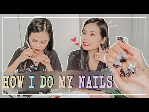 TỰ LÀM MÓNG TẠI NHÀ ♡ How i do my extension nails ♡ Tuta.nguyen