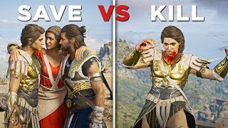 Save vs Kill Kassandra (Good and Bad Ending for Alexios) - Assassin