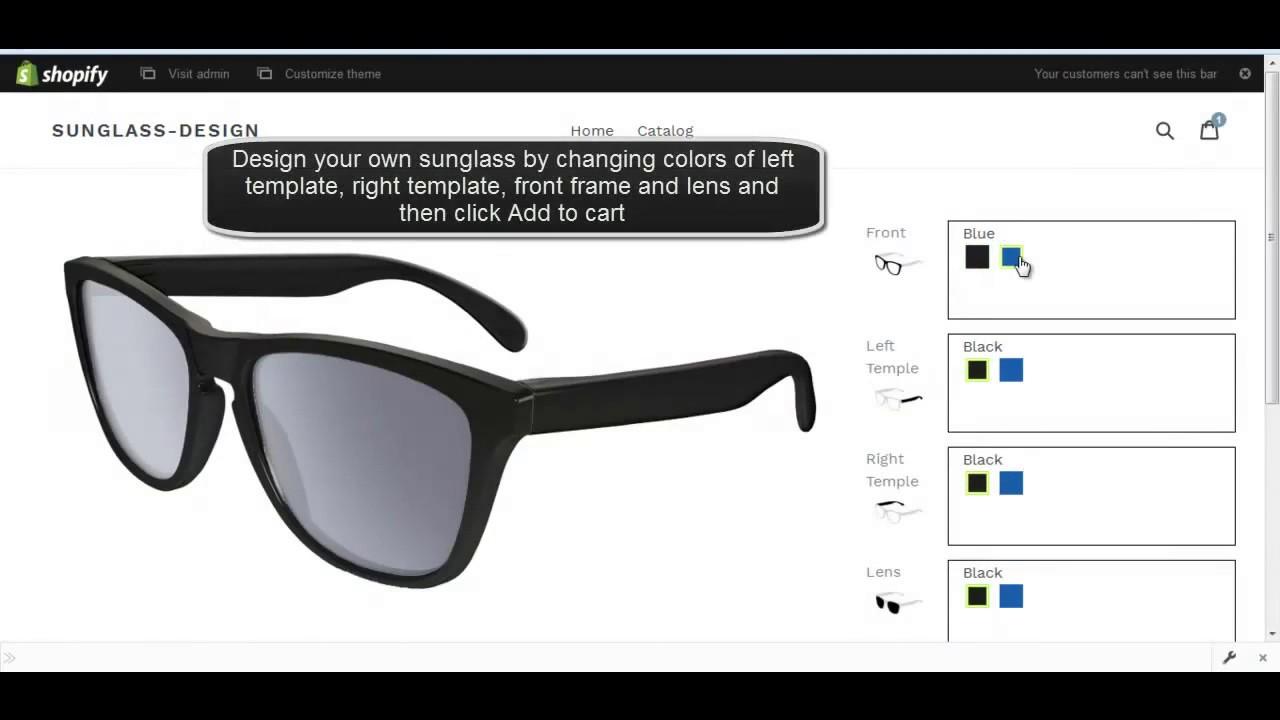 Custom Sunglass Designer admin - YouTube
