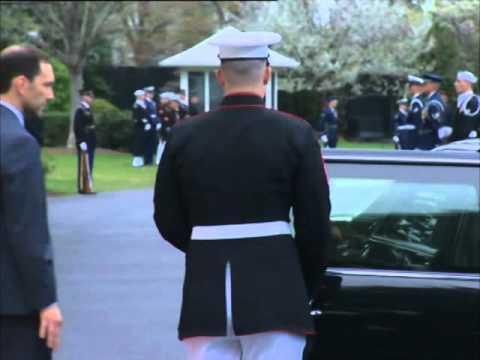 Indian PM Modi arrives for dinner at White House