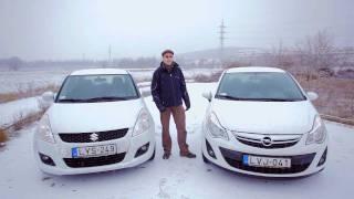 Összehasonlító teszt: Opel Corsa 1.3 CDTI és Suzuki Swift 1.3 DDiS
