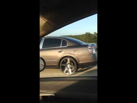 Nissan Altima on 20 inch Rims Staggered