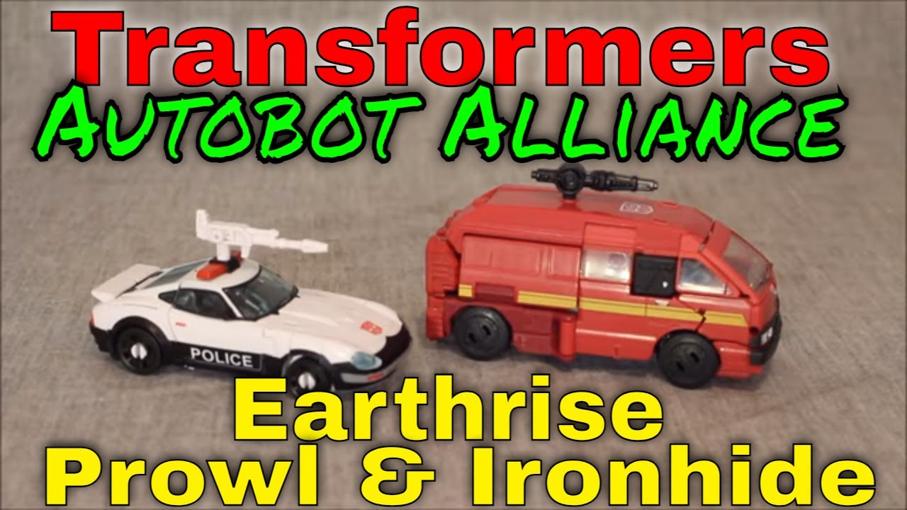 Autobots Alliance: Earth mode Ironhide and Custom Prowl by GotBot