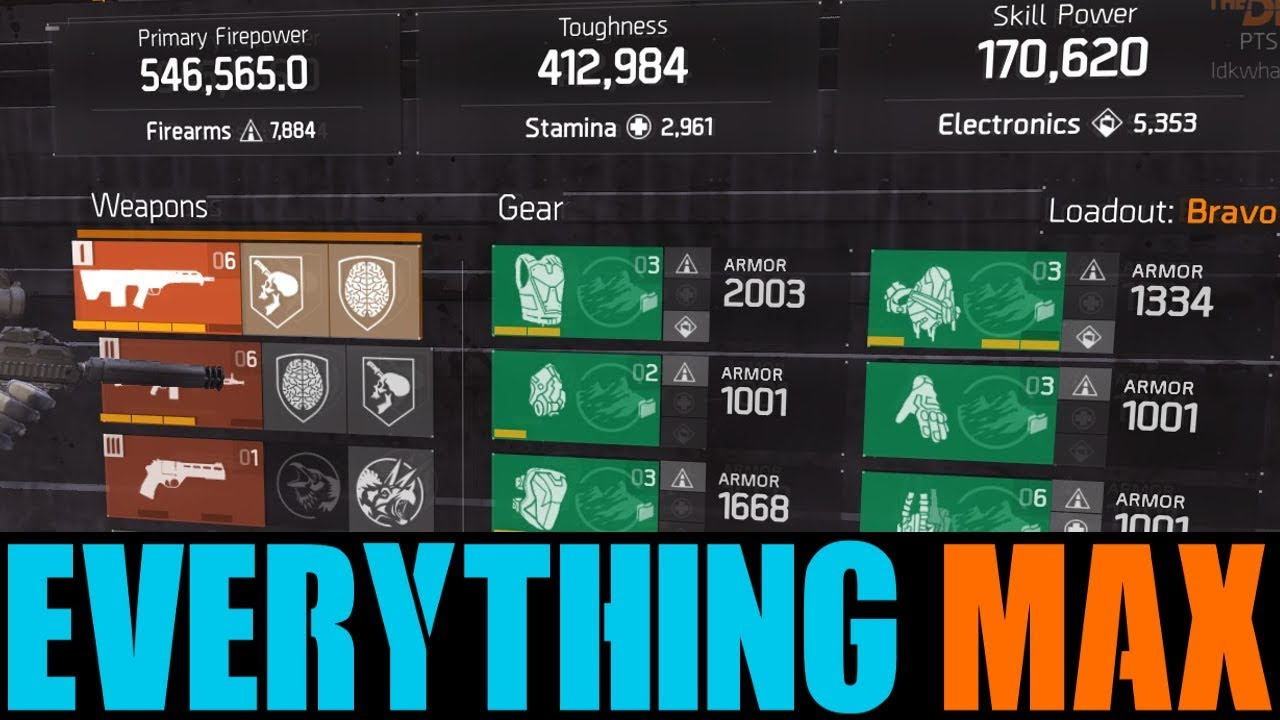 THE DIVISION - WORLD'S FIRST MAX EVERYTHING BUILD! (MAX WEAPONS, GEAR &  MORE)