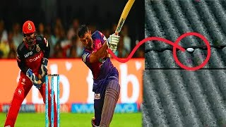 MS Dhoni Hits Biggest Six of IPL 10 Ball Lands on ChinnaSwamy Stadium Roof_D-Cricket