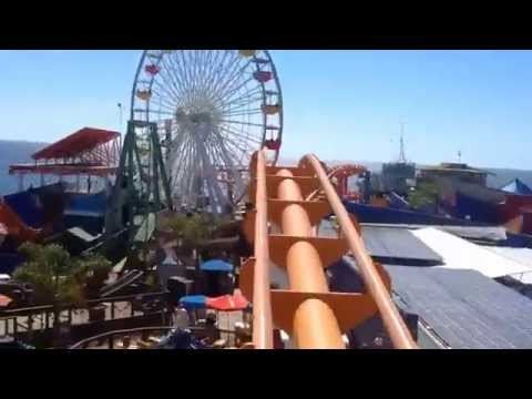 Santa Monica West Coaster at Pacific Park On Ride POV