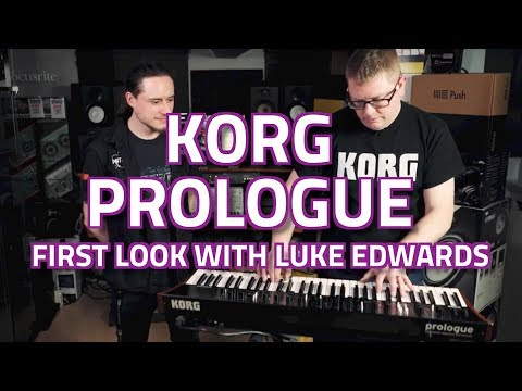 Korg Prologue Analogue Synthesizer   First Look with Luke Edwards