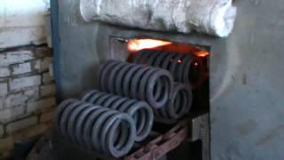 видео Производство пружин