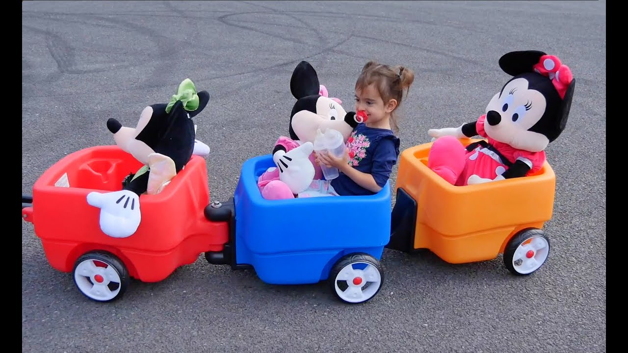 Ride Kids Wagon The Wheels on the Bus aprender colores