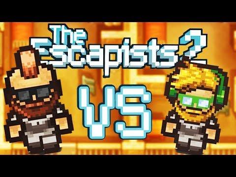 Escapists 2 Versus Mode! - Baron Vs Blitz Epic Prison Escape Race! - The Escapists 2 Gameplay