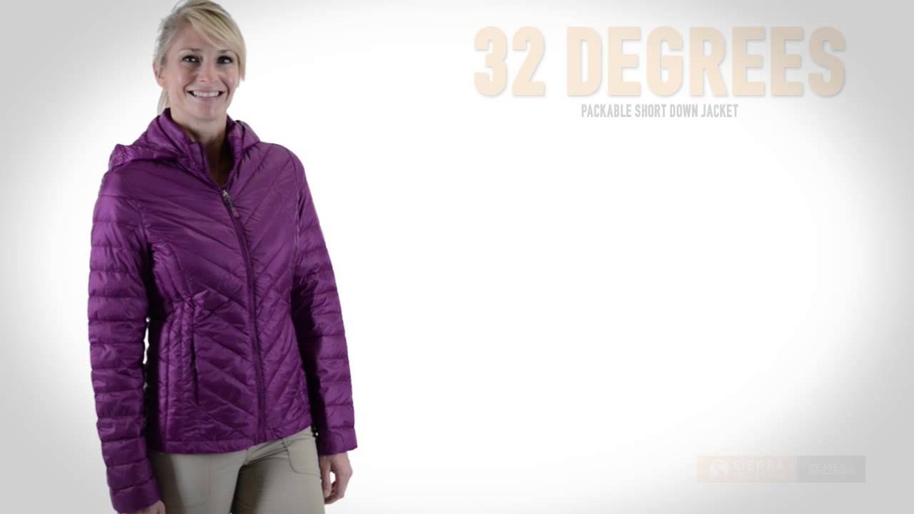 9701e51610f 32 Degrees Packable Short Down Jacket - 650 Fill Power (For Women)