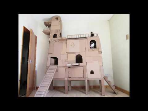 Crazy Cardboard Cat Tree