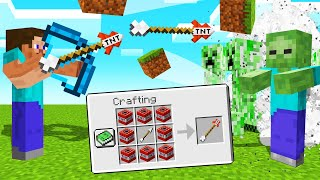 MINECRAFT But ARROWS Are EXPLOSIVE TNT! (Dangerous)