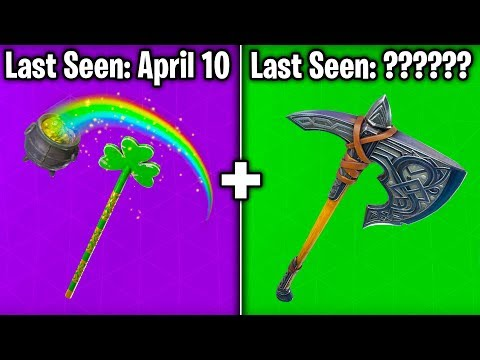 5 PICKAXES BECOMING RARE In Fortnite Battle Royale! (Rare Harvesting Tools)