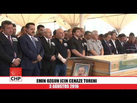 EMIN OZGUN ICIN CENAZE TORENI 03/08/2016
