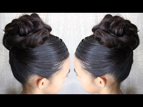 easy elegant high updo hairstyle prom bun special