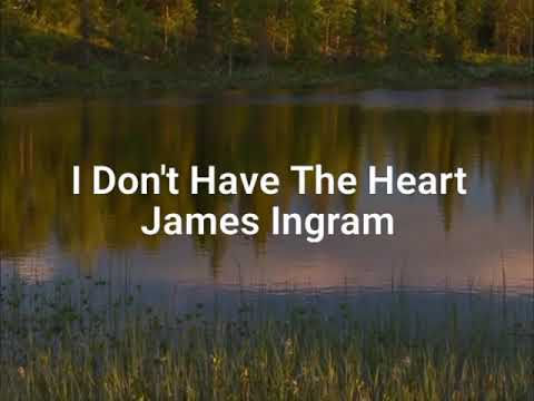 I DON'T HAVE THE HEART -lyrics James Ingram