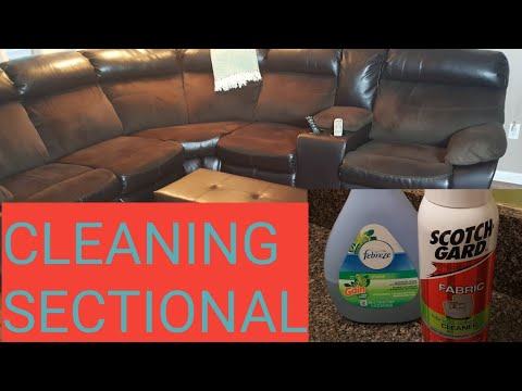 #cleaning #scotch guard/HOW TO CLEAN FABRIC SECTIONAL /SCOTCH GUARD/FEBREZE/FEB/2019