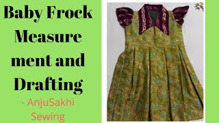 Baby frock measurement and drafting
